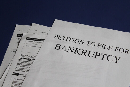 Paperwork to File for Bankruptcy
